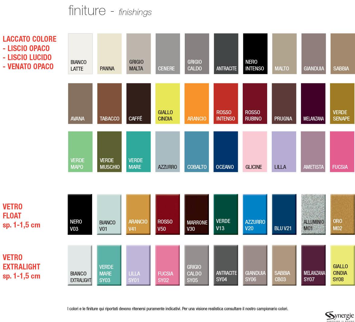mobili bagno italia colori disponibili