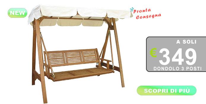 dondolo da giardino, struttura in legno in offerta speciale