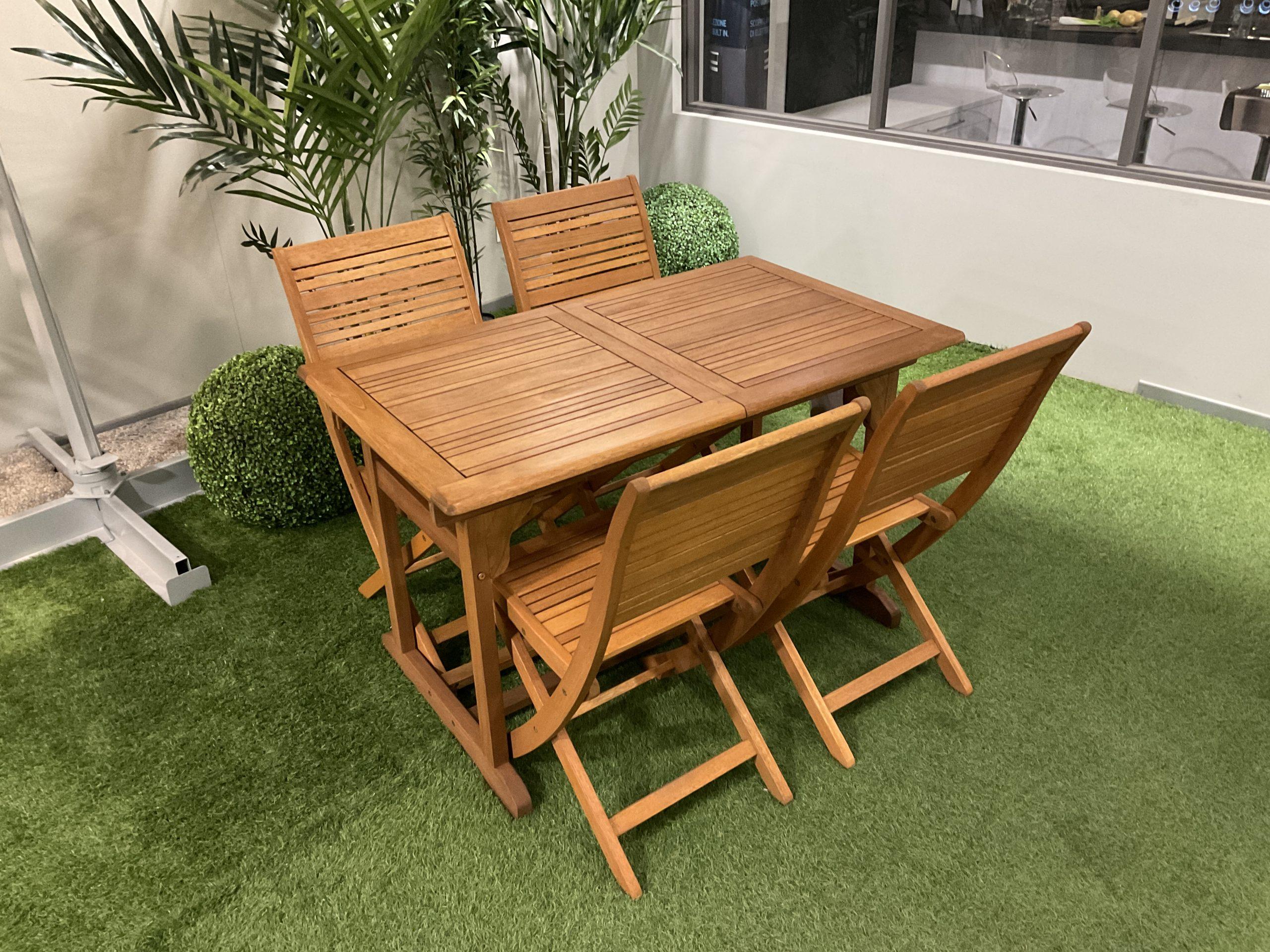 Tavolo Da Giardino Allungabile 120 160x70 Pignataro Shop