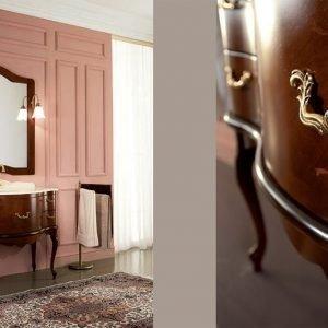 Mobile bagno imperiale con piano in marmo