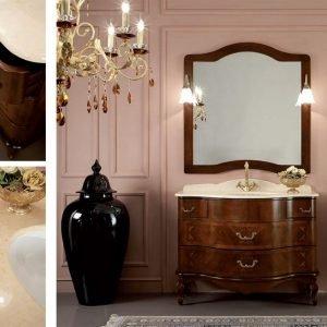 Mobile bagno principessa SISSI con piano in marmo