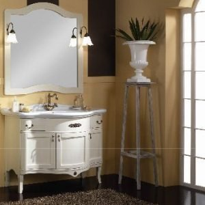 Mobile bagno classico con lavabo integrale