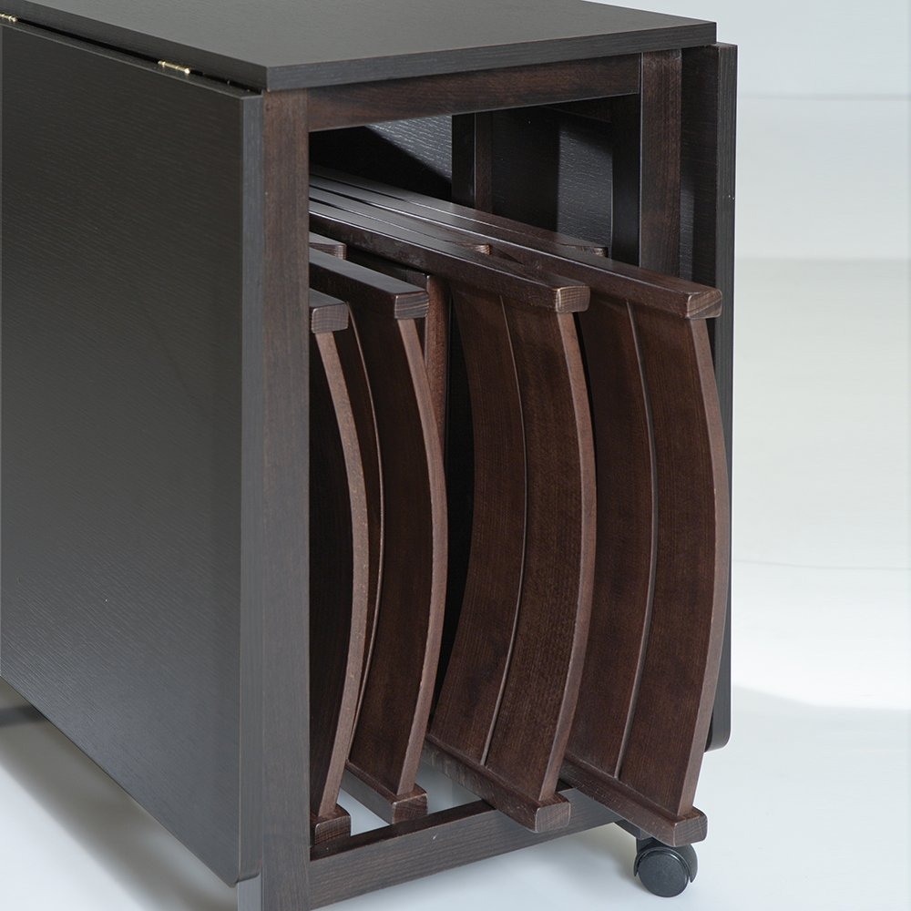 Tavolo Consolle Con Sedie Pieghevoli.Tavolo Consolle Pieghevole Ed Allungabile 100x44 60 60cm