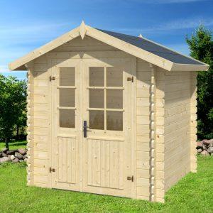 casetta in legno grezza