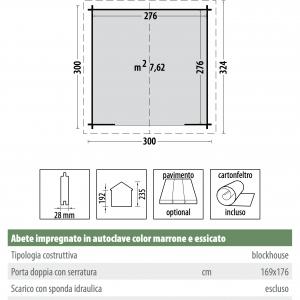 casetta in legno 3x3m a roma