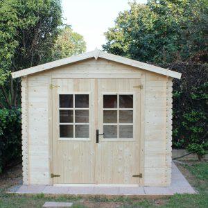 casetta grezza da giardino in legno di abete 246x200cm