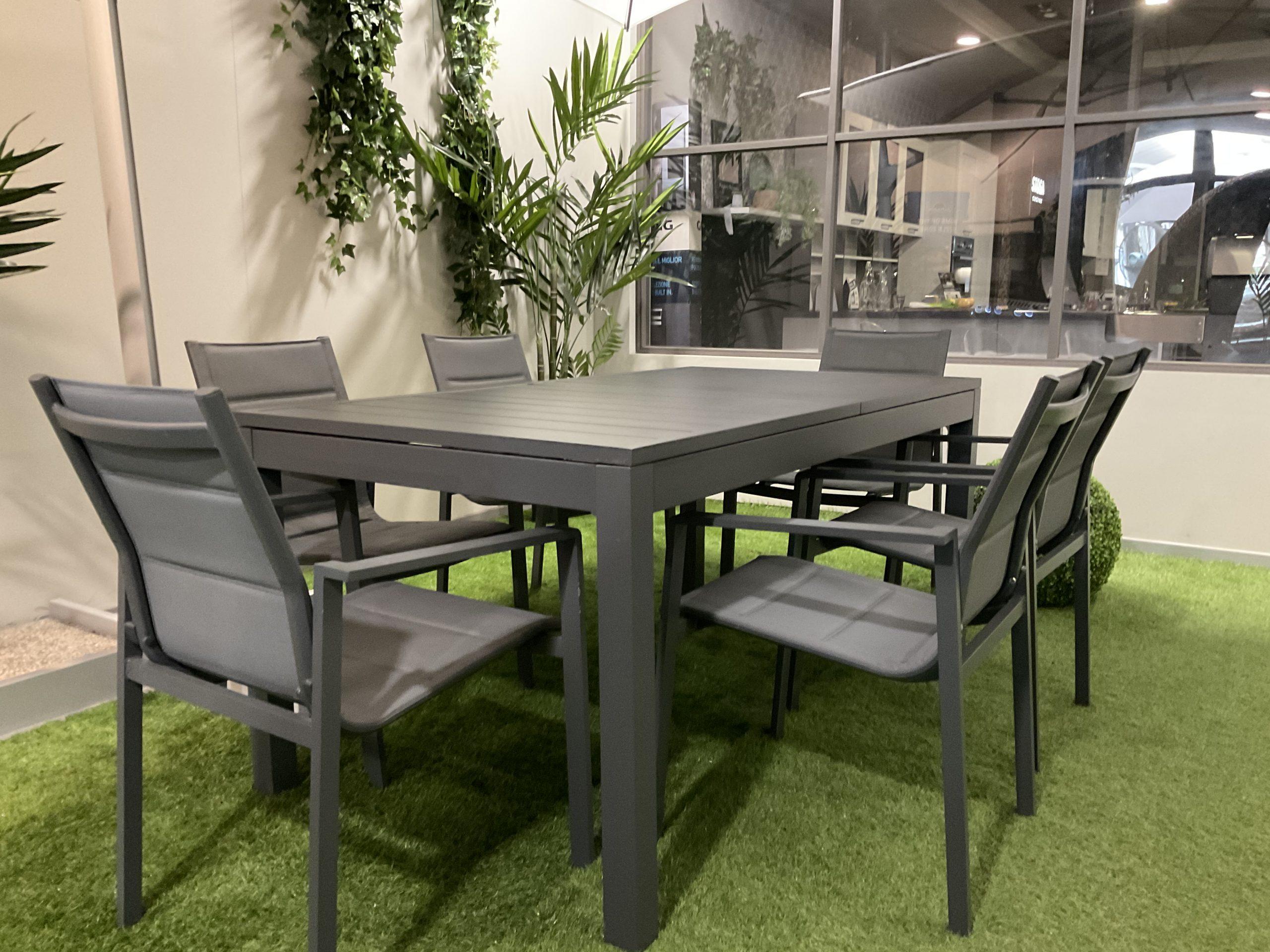 Tavolo Da Esterno In Alluminio 160x90cm