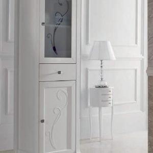 Colonna da bagno finitura bianco opaco