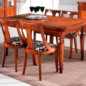 tavolo rettangolare allungabile a serrandina