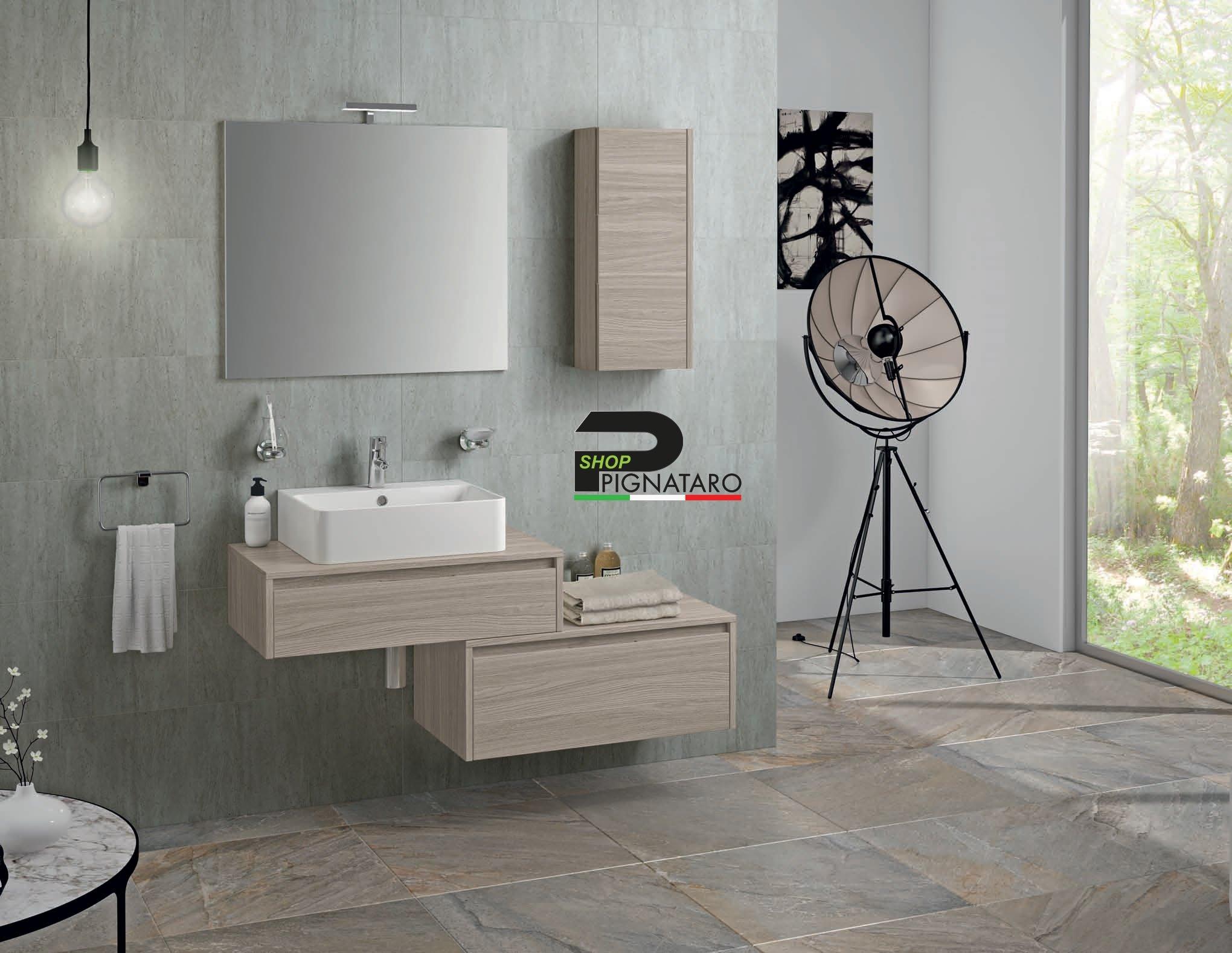 Armadietto Bagno Moderno mobile bagno sospeso trevi 01 - pignataro shop