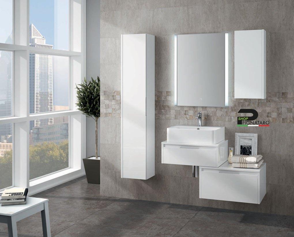 Armadietto Bagno Moderno mobile bagno sospeso trevi 04 - pignataro shop