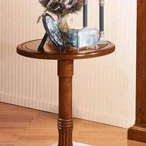 tavolino classico tondo in legno alto proteo