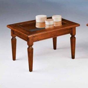 tavolino da salotto con vetro rettangolare classico tizio