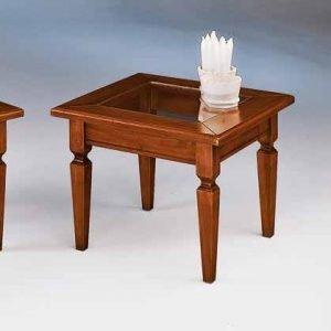 tavolino salotto con vetro classico caio