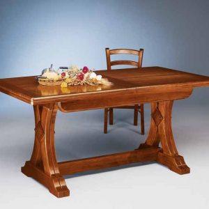 tavolo allungabile doppio gambo a fiocco
