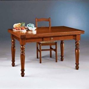 tavolo allungabile noce con cassetto