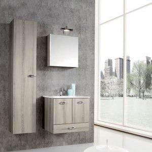 Mobile bagno 60 cm rovere grigio