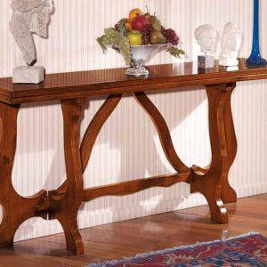 tavolo consolle noce gambe lavorate