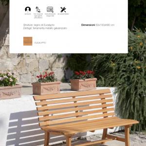 Panca in legno da giardino 3 posti a sedere