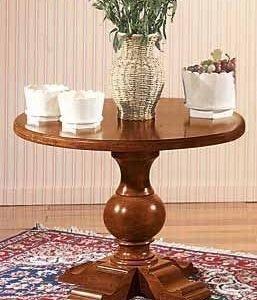 tavolino tondo classico in legno