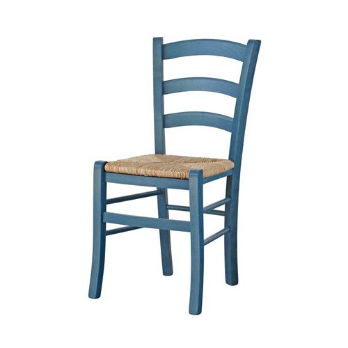 Sedia In Legno Blu Petrolio Pignataro Shop