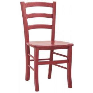 sedia rossa in legno
