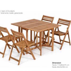 tavolo dining 4 sedie incluse in promo