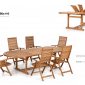tavolo allungabile da giardino in legno