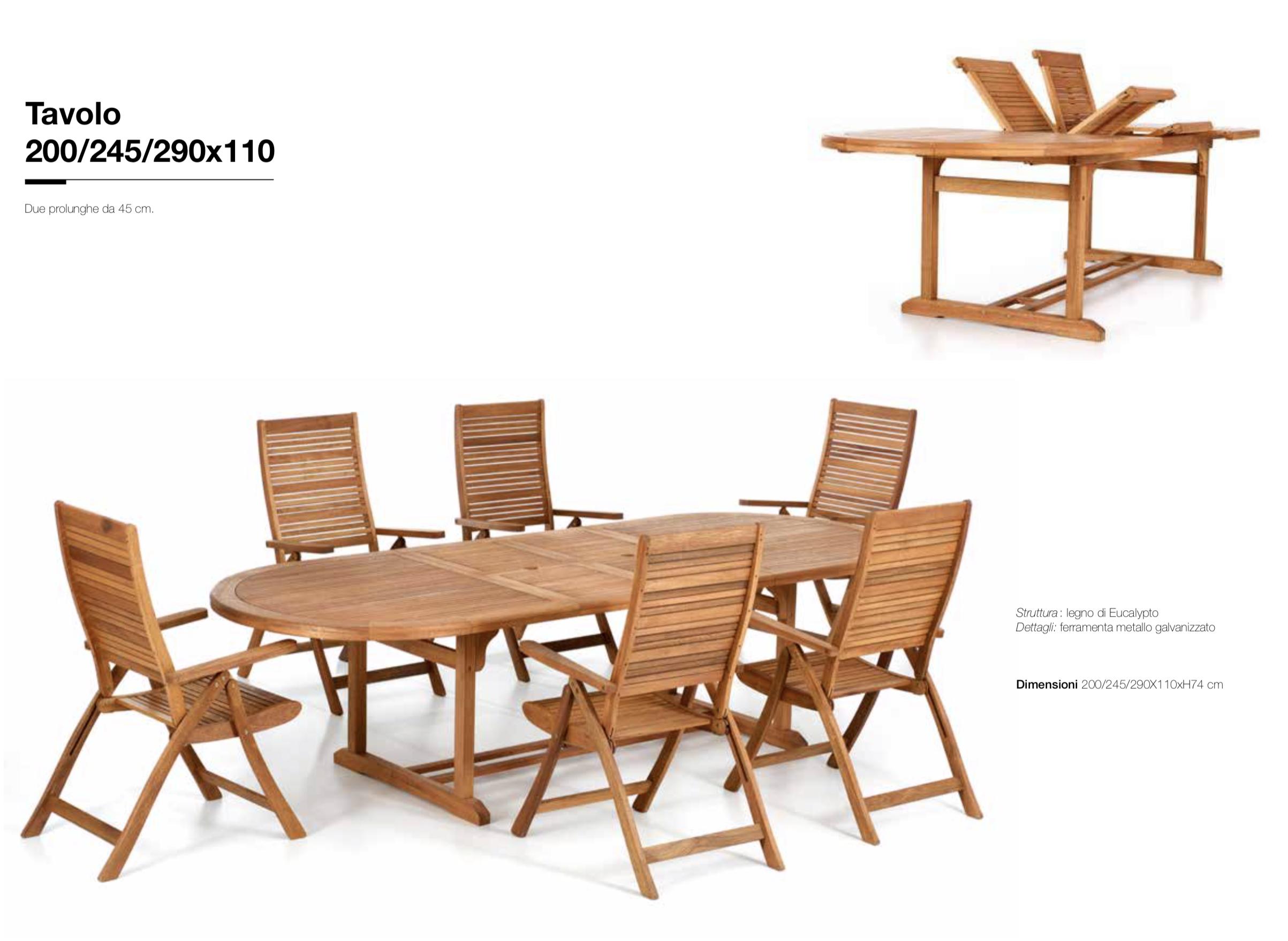 Tavoli In Legno Da Esterno Allungabili.Tavolo Ovale Allungabile Da Giardino 200x110cm Pignataro Shop