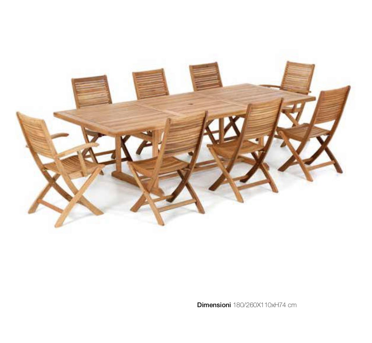 Tavolo Per Esterno Allungabile.Tavolo Allungabile Da Giardino 180x110cm Pignataro Shop