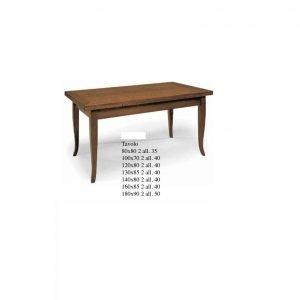 tavolo classico tinto noce