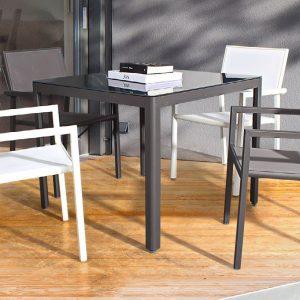 tavolo in alluminio antracite