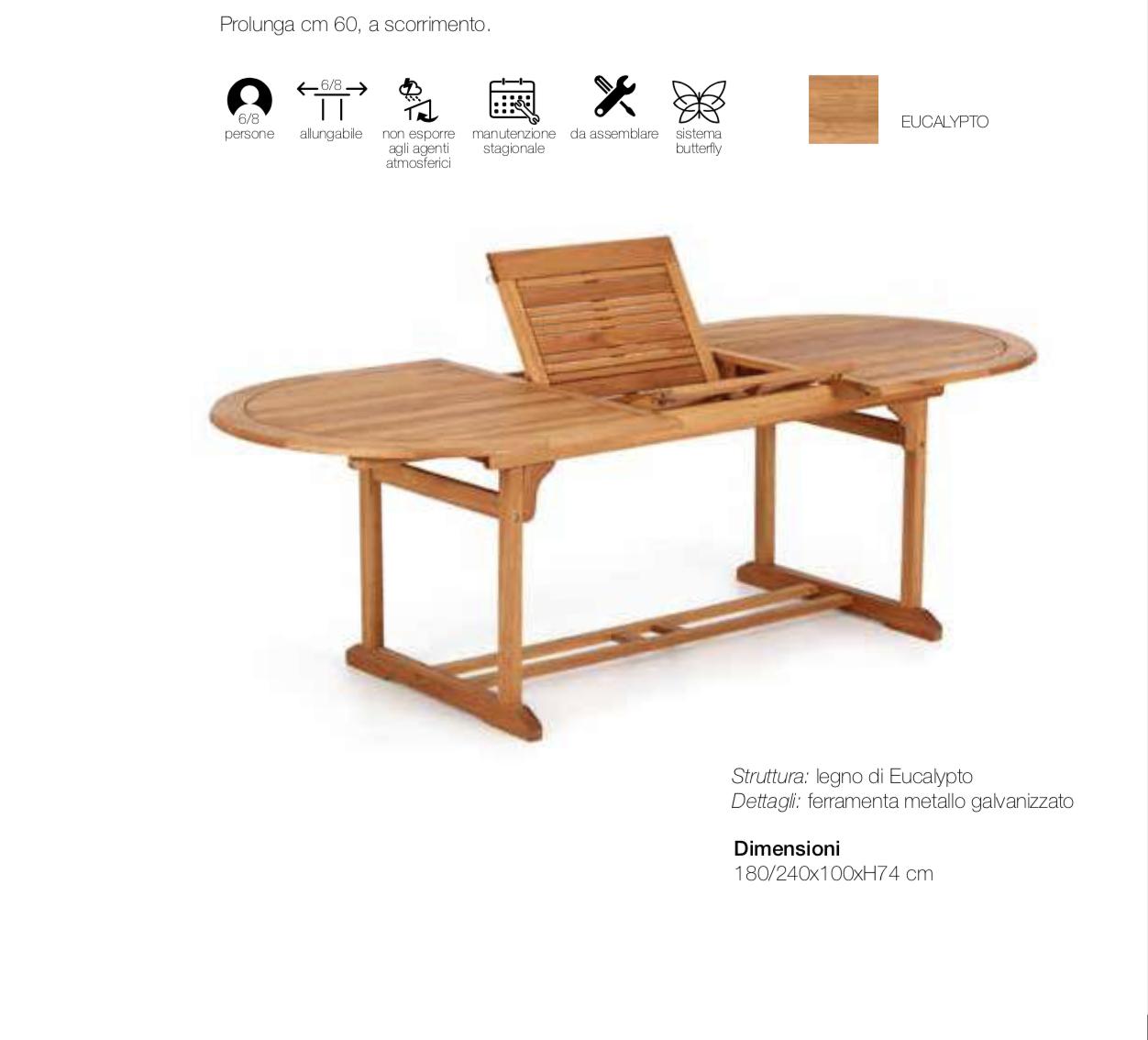 Tavolo Da Giardino In Ferro Allungabile.Tavolo Ovale Allungabile Da Giardino 180x100cm Pignataro Shop