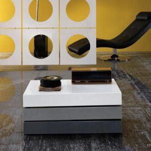 tavolino moderno rettangolare twist