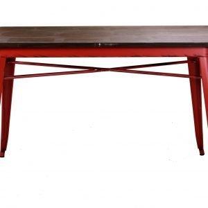 Tavolo metallo rosso